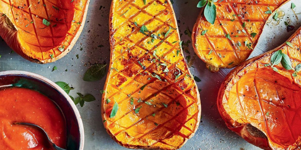 Roasted Butternut Squash With Ginger