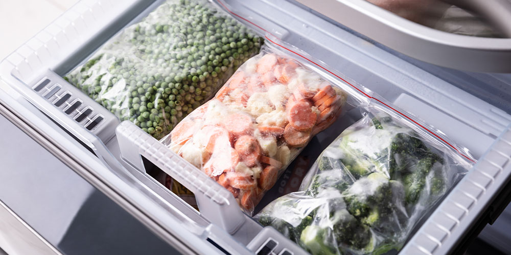 preserve veggies by freezing them