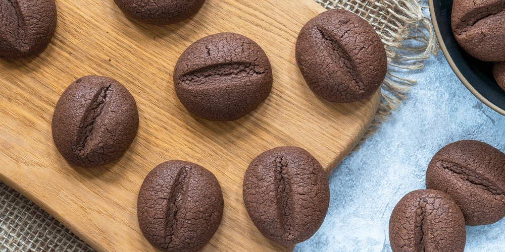 cookies shaped like coffee beans