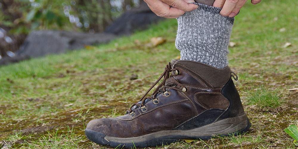 covering ankles with socks